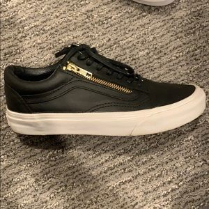 Vans old school black leather